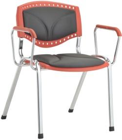 Cadeira Evidence aproximação estofada com braço