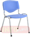 Cadeira aproximação                         evidence 4 pés assento e encosto azul