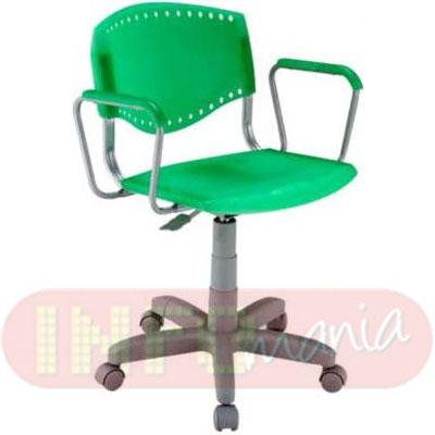 Cadeira Evidence giratória cinza assento encosto verde