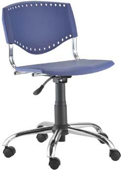 Cadeira Evidence giratória base celta cromada
