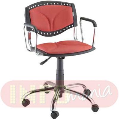 Cadeira Evidence giratória cromada estofada com ou sem braço de apoio