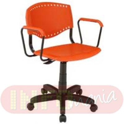 Cadeira Evidence giratória assento encosto laranja
