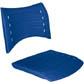 Cadeiras ISO assento encosto polipropileno                         injetado azul CPCJ119U20