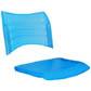 Cadeiras ISO assento encosto polipropileno                         injetado azul translucido CPCJ119U36