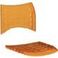 Cadeiras ISO assento encosto polipropileno                         injetado laranja translucido CPCJ119U28