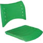 Assento encosto ISO polipropileno injetado                         verde CPCJ119U32