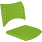 Assento encosto ISO polipropileno injetado                         verde limão CPCJ119U42