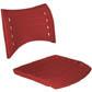 Cadeiras ISO assento encosto polipropileno                         injetado vermelho CPCJ119U24