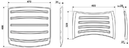 Cadeiras ISO desenho assento e encosto             polipropileno injetado