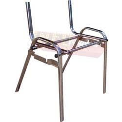Cadeiras ISO estrutura cromada