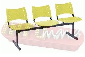 Longarina ISO 3 lugares amarelo