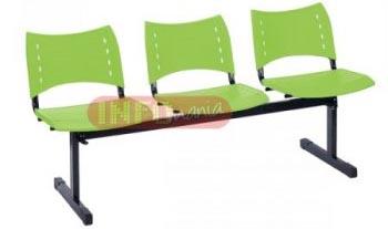 Longarina ISO 3 lugares polipropileno verde             translucido