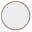 Longarinas cromadas branco sólido