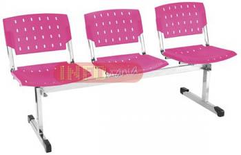 Longarina plásticas propileno 3             lugares ergo pink translucido