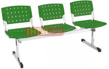 Longarina plásticas             propileno 3 lugares ergo verde