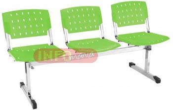 Longarinas cromadas 3 lugares ergo verde             translúcido