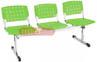 Bancos longarina cromadas Ergo                         polipropileno verde transl�cido