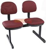 Cadeiras em longarina             secretária basic 2 lugares