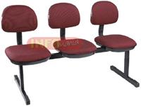 Cadeiras longarinas             secretária basic 3 lugares