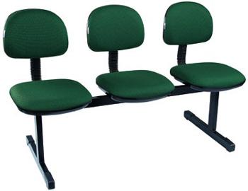 Cadeiras em longarina 3 lugares - banco de espera             3 lugares