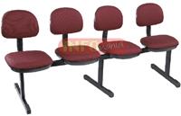 Cadeiras longarinas             secretária basic 4 lugares