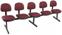 Cadeiras em longarina             secretária basic 5 lugares
