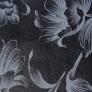 12 - Corino floral branco preto - Cadeirascromadas para cozinha Sidamo
