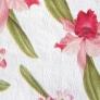 16 - Corino floral vermelho branco -Cadeiras cromadas para cozinha Sidamo