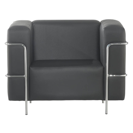 Sofá Confort cromado 1 lugar para sala             deespera