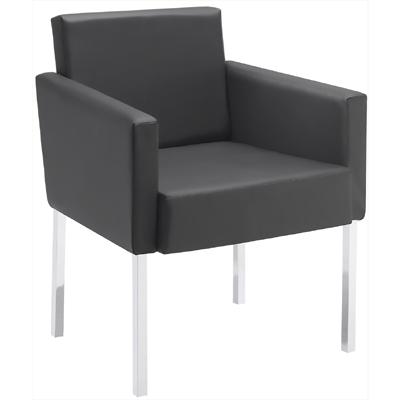 Sofá Sit cromado 4 pés fixo para sala de espera